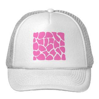 Giraffe Print Pattern in Bright Pink. Trucker Hat