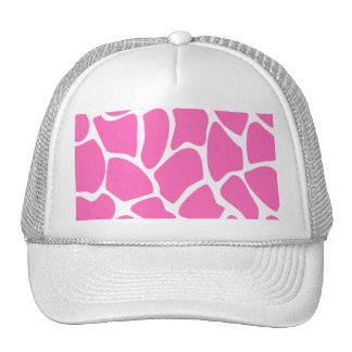 Giraffe Print Pattern in Bright Pink. Hat