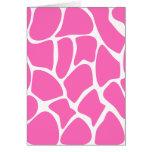 Giraffe Print Pattern in Bright Pink. Card