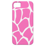 Giraffe Print Pattern in Bright Pink. iPhone 5 Cover