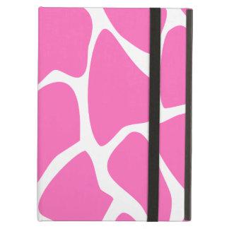 Giraffe Print Pattern in Bright Pink. iPad Air Covers
