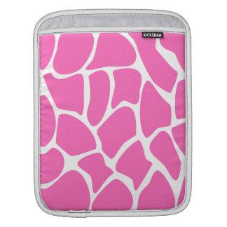 Giraffe Print Pattern in Bright Pink. iPad Sleeves