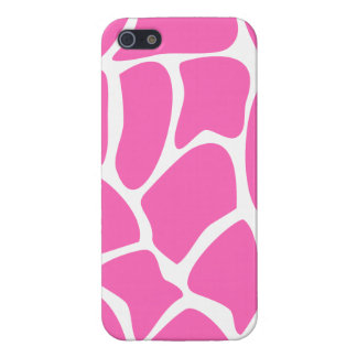 Giraffe Print Pattern in Bright Pink. iPhone 5 Case