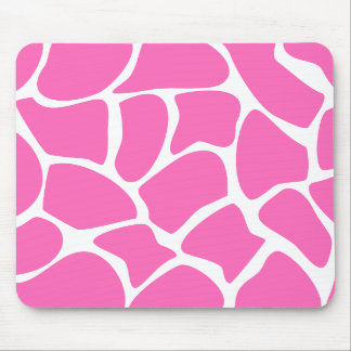 Giraffe Print Pattern in Bright Pink. Mouse Pads