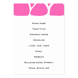 Giraffe Print Pattern in Bright Pink. Pack Of Chubby Business Cards