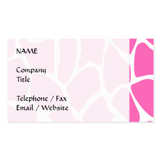 Giraffe Print Pattern in Bright Pink. Pack Of Standard Business Cards