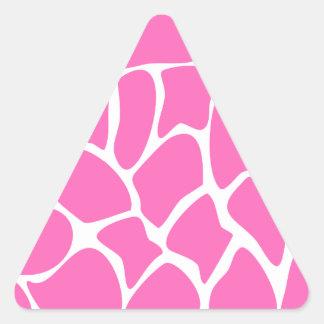 Giraffe Print Pattern in Bright Pink Stickers