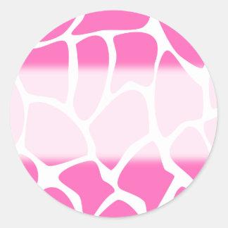 Giraffe Print Pattern in Bright Pink. Stickers
