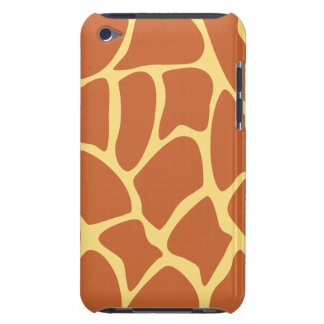 Giraffe Print Pattern in Brown and Yellow. iPod Touch Case