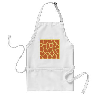 Giraffe Print Pattern in Brown and Yellow. Standard Apron