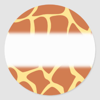 Giraffe Print Pattern in Brown and Yellow Round Stickers