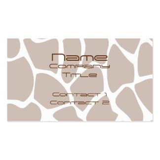 Giraffe Print Pattern in Brown Business Card Templates