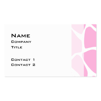 Giraffe Print Pattern in Candy Pink. Double-Sided Standard Business Cards (Pack Of 100)