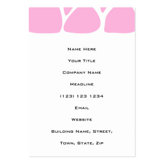 Giraffe Print Pattern in Candy Pink. Pack Of Chubby Business Cards