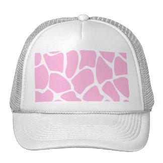 Giraffe Print Pattern in Candy Pink. Cap