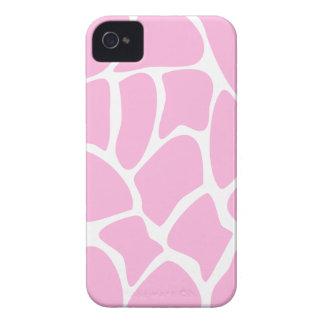 Giraffe Print Pattern in Candy Pink. iPhone 4 Case-Mate Cases