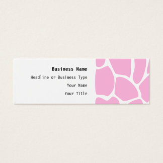 Giraffe Print Pattern in Candy Pink. Mini Business Card