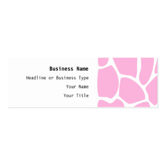 Giraffe Print Pattern in Candy Pink. Pack Of Skinny Business Cards