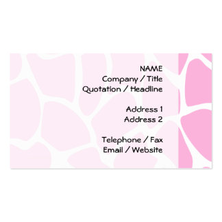 Giraffe Print Pattern in Candy Pink. Pack Of Standard Business Cards