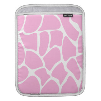 Giraffe Print Pattern in Candy Pink. Sleeves For iPads