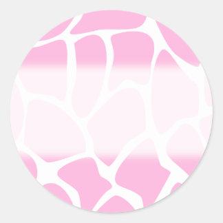 Giraffe Print Pattern in Candy Pink Stickers