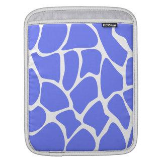 Giraffe Print Pattern in Cornflower Blue. Sleeve For iPads