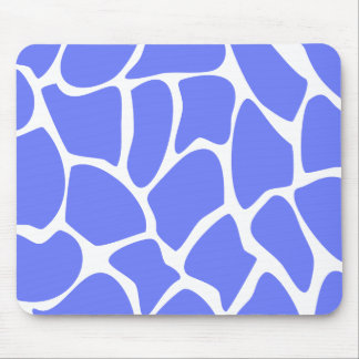 Giraffe Print Pattern in Cornflower Blue. Mouse Pad