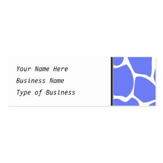 Giraffe Print Pattern in Cornflower Blue. Pack Of Skinny Business Cards