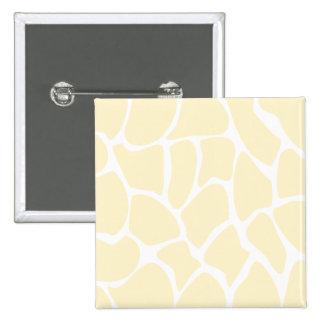 Giraffe Print Pattern in Cream Color. 15 Cm Square Badge