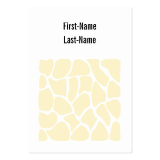 Giraffe Print Pattern in Cream Color. Large Business Cards (Pack Of 100)