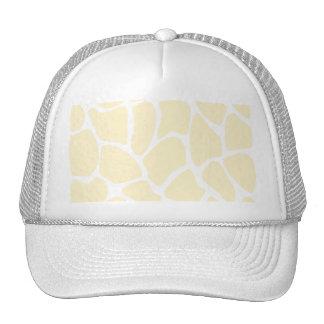 Giraffe Print Pattern in Cream Color. Hat