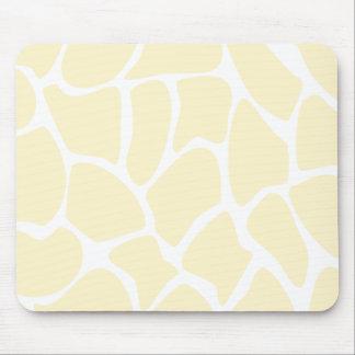 Giraffe Print Pattern in Cream Color Mouse Pad