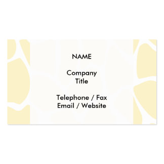 Giraffe Print Pattern in Cream Color. Pack Of Standard Business Cards