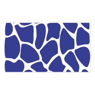 Giraffe Print Pattern in Dark Blue. Pack Of Standard Business Cards