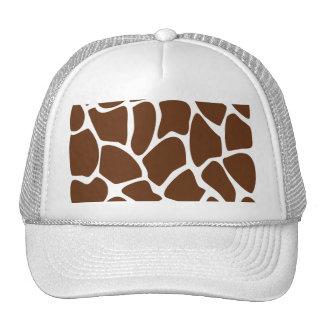 Giraffe Print Pattern in Dark Brown. Cap