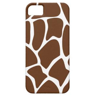 Giraffe Print Pattern in Dark Brown. iPhone 5 Case