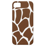 Giraffe Print Pattern in Dark Brown. Barely There iPhone 5 Case
