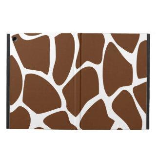 Giraffe Print Pattern in Dark Brown. Case For iPad Air