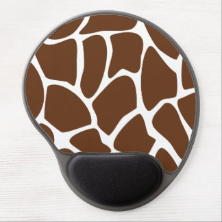 Giraffe Print Pattern in Dark Brown. Gel Mousepad