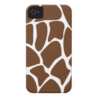 Giraffe Print Pattern in Dark Brown. iPhone 4 Cases