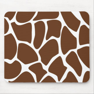 Giraffe Print Pattern in Dark Brown. Mousepad