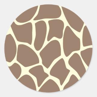 Giraffe Print Pattern in Dark Brown. Stickers