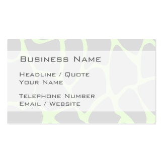 Giraffe Print Pattern in Gray Business Card Templates