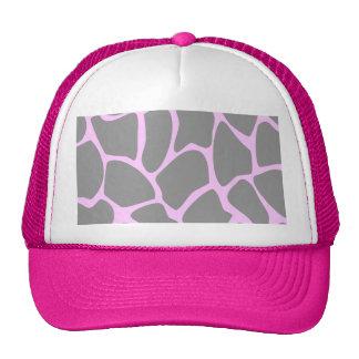 Giraffe Print Pattern in Gray. Mesh Hats
