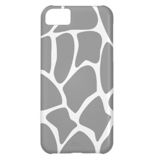 Giraffe Print Pattern in Gray. iPhone 5C Cover