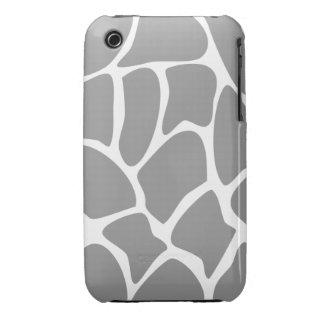 Giraffe Print Pattern in Gray. iPhone 3 Case-Mate Cases