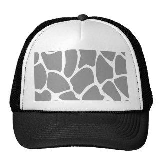 Giraffe Print Pattern in Gray. Hat