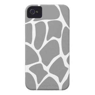 Giraffe Print Pattern in Gray. iPhone 4 Case-Mate Cases