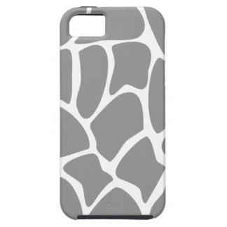 Giraffe Print Pattern in Gray. iPhone 5 Case
