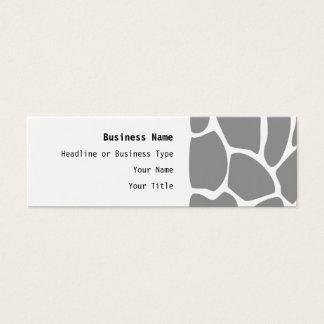 Giraffe Print Pattern in Gray. Mini Business Card